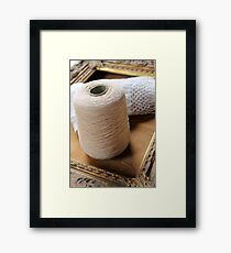 skein of wool and frame Framed Print