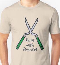 Runs with Pruners Unisex T-Shirt