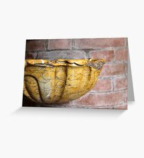 holy water font Greeting Card
