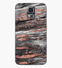 Modern rose gold abstract marbleized paint Case/Skin for Samsung Galaxy