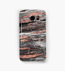 Modern rose gold abstract marbleized paint Samsung Galaxy Case/Skin
