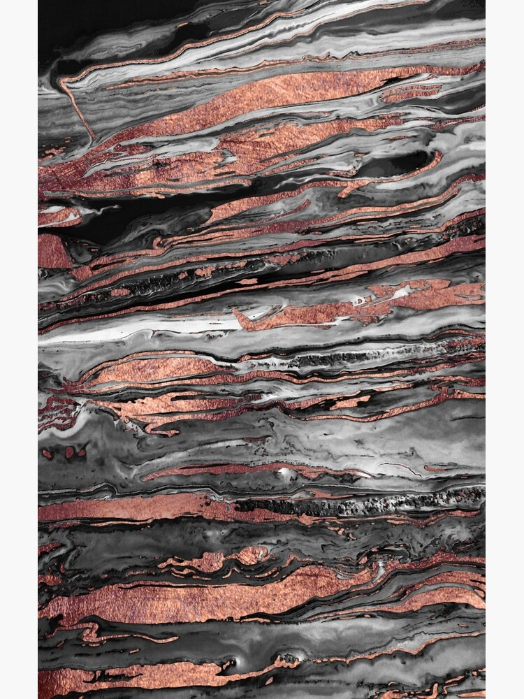 Modern rose gold abstract marbleized paint by InovArtS