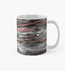 Modern rose gold abstract marbleized paint Mug