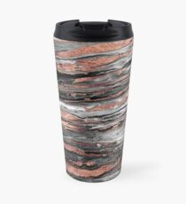 Modern rose gold abstract marbleized paint Travel Mug