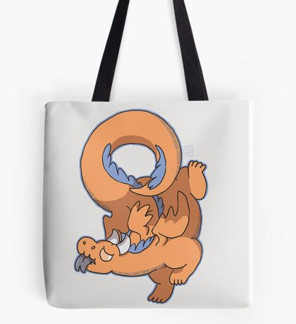 Orange Dragon Tote Bag