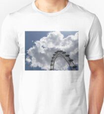 Silver, Blue and White - the London Eye Against Dramatic Sky T-Shirt