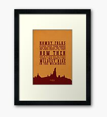 Big Thunder Mountain Quote Framed Print