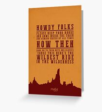Big Thunder Mountain Quote Greeting Card