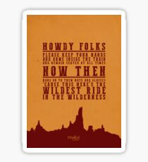 Big Thunder Mountain Quote Sticker