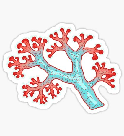 coral dream Sticker