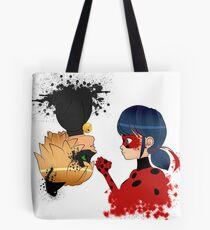 Bolsa de tela Ladybug y Chat noir