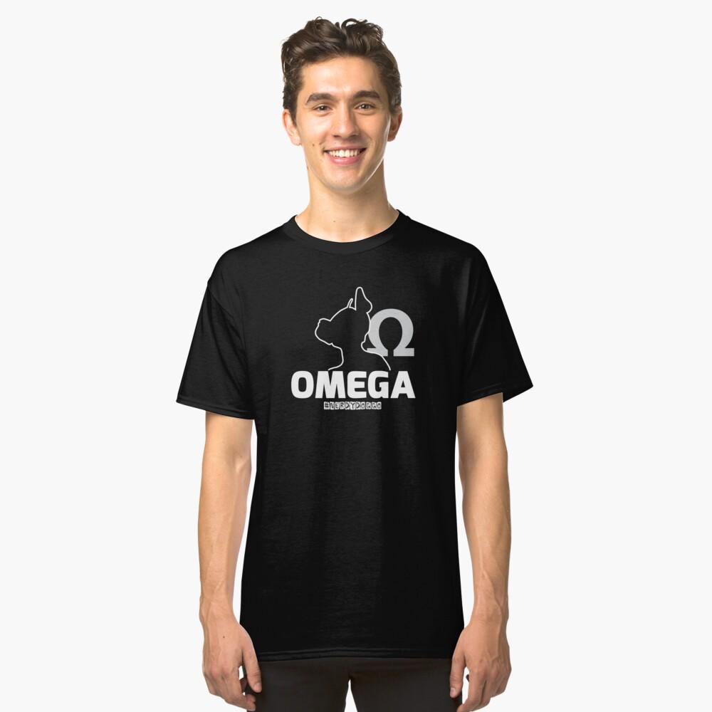 Nerdy Doggo Omega Classic T-Shirt Front