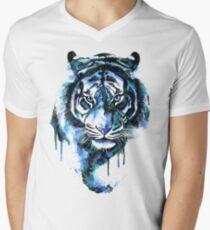 Blue Tiger Men's V-Neck T-Shirt