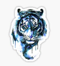Blue Tiger Sticker