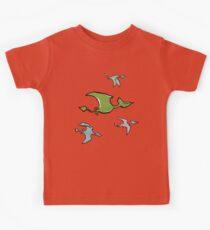 a flock of pterosaurs Kids Clothes