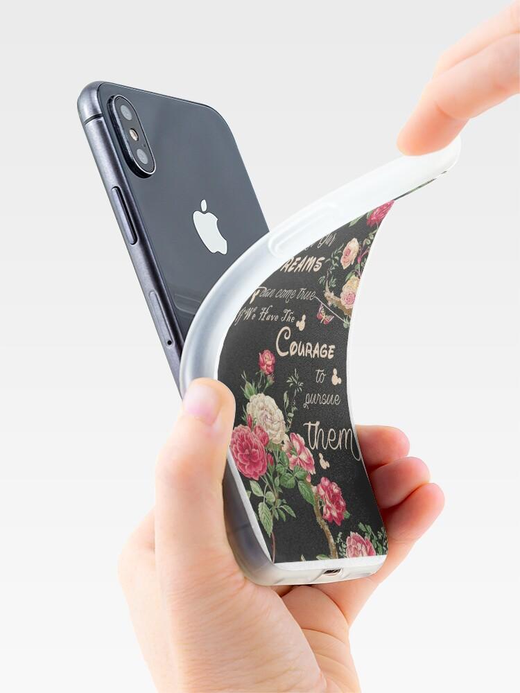 Alternative Ansicht von Alle unsere Träume können wahr werden Mickey Zitat des Tages iPhone-Hülle & Cover
