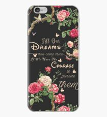 All Our Dreams Can Come True Mickey Quote Of the Day  iPhone Case