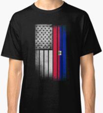 Haitian American Flag Classic T-Shirt