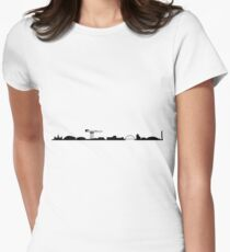 Glasgow skyline Womens Fitted T-Shirt