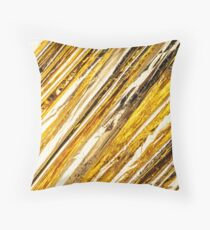 Shimmering Gold Foil Throw Pillow