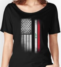 Iraqi American Flag Women's Relaxed Fit T-Shirt
