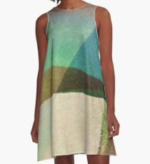 Interaction of Earth Tone Lines A-Line Dress A-Line Dress