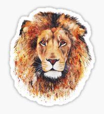 Orange Lion Sticker
