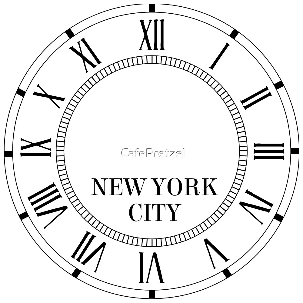 New york city wall clock with roman numerals by cafepretzel new york city wall clock with roman numerals by cafepretzel amipublicfo Gallery