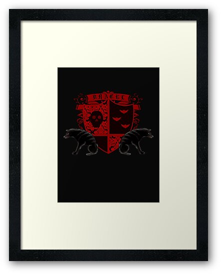 Dark Heraldry Dracula Fantasy Coat of Arms by Sarah Countiss