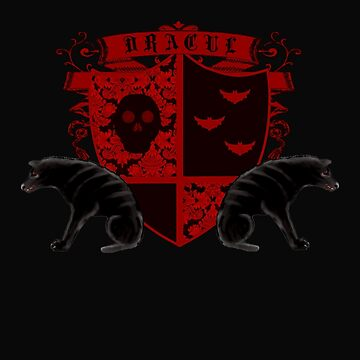 Dark Heraldry Dracula Fantasy Coat of Arms by sfcount
