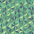 Cool green 3d triangular pattern by mikath