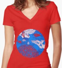 Coral reef Women's Fitted V-Neck T-Shirt