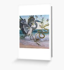 """""""Serpent and the Thistle""""  Greeting Card"""