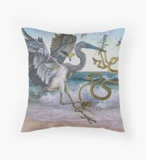 """""""Serpent and the Thistle""""  Throw Pillow"""
