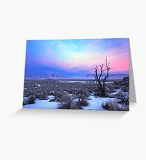 Nevada Winter Pre Sunrise  Greeting Card
