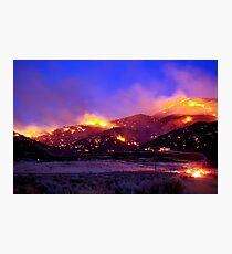 Palomino Valley Wild Fire (The Ironwood Fire) Photographic Print