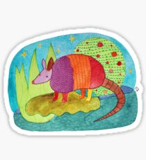 Happy Armadillo Sticker