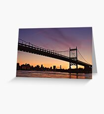 Sunsets in New York Greeting Card