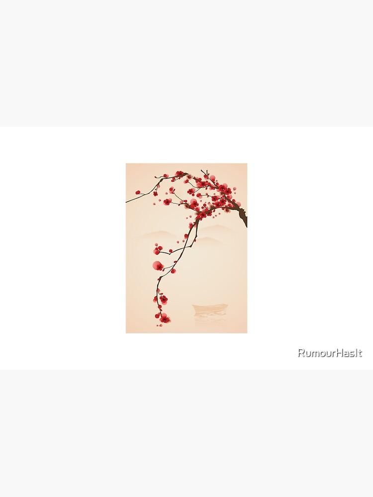 Wunderlicher roter Kirschblüten-Baum von RumourHasIt