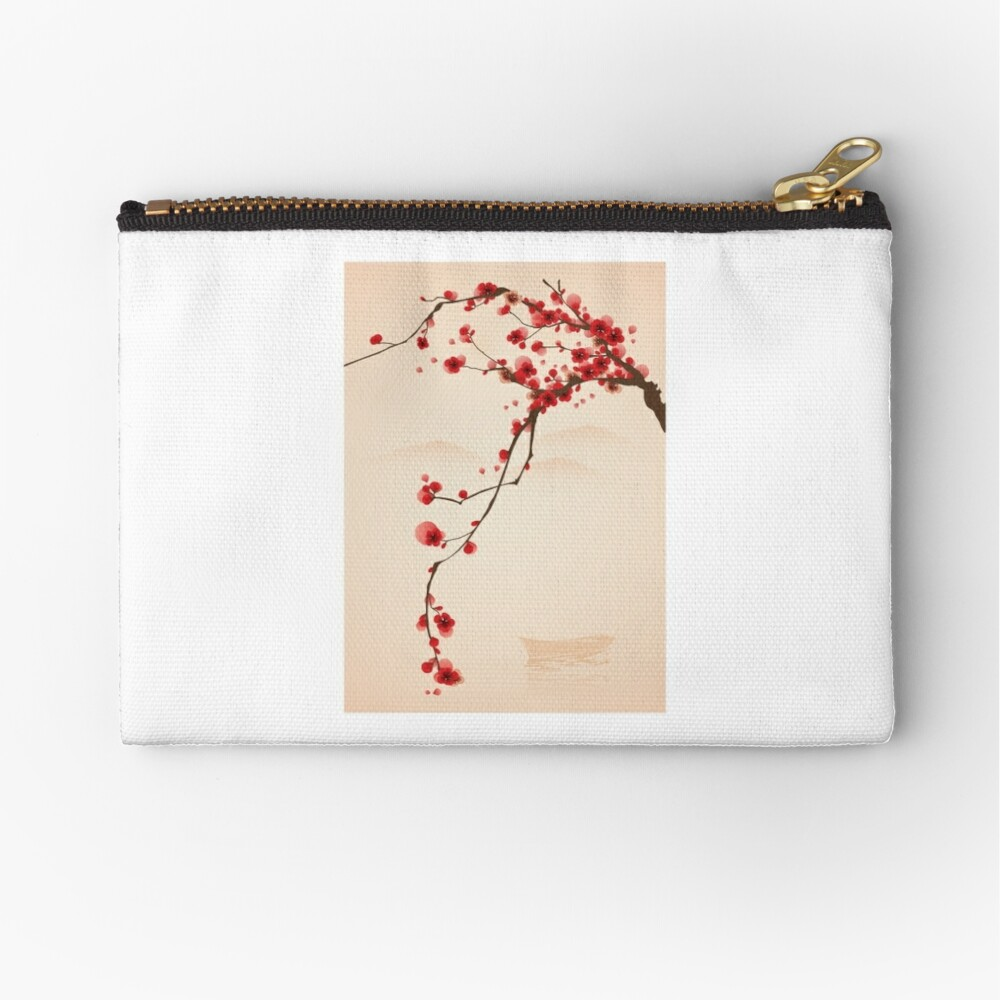 Wunderlicher roter Kirschblüten-Baum Täschchen