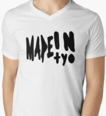 MADEINTYO BLCK Men's V-Neck T-Shirt