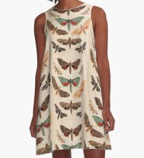 Vintage Natural History Moths A-Line Dress