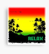 Rasta Relax Canvas Print