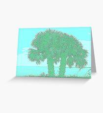 white tropical beach Greeting Card