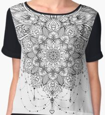 Ornate Lotus Flower Women's Chiffon Top