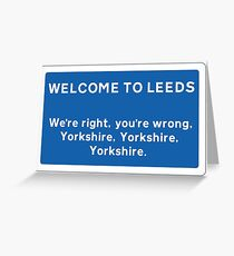 Welcome To Leeds Sign Greeting Card
