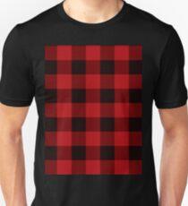 Country Christmas Cottage Primitive lumberjack Buffalo Plaid Unisex T-Shirt