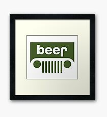 Drink beer in a truck or jeep. Framed Print