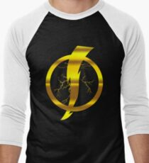 Static Shock Logo Men's Baseball ¾ T-Shirt