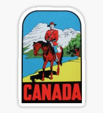 Canada Canadian Mountie Vintage Travel Decal Sticker